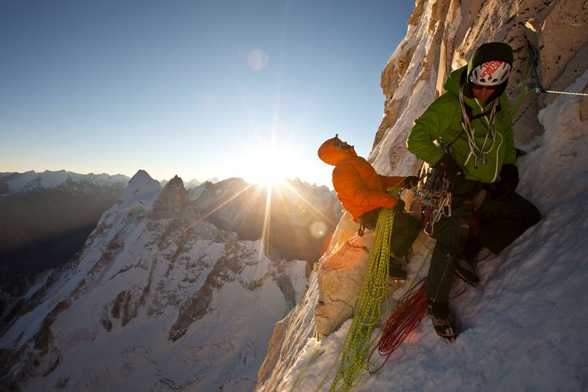 Conrad Anker and Renan Ozturk, India. Photo: Jimmy Chin. The North Face Rights
