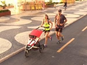 Vida de mãe corredora