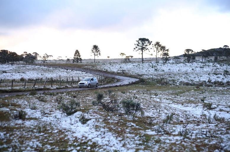 Neve em Urubici (SC) -Foto: Júlio Cavalheiro/Governo de SC - Twitter