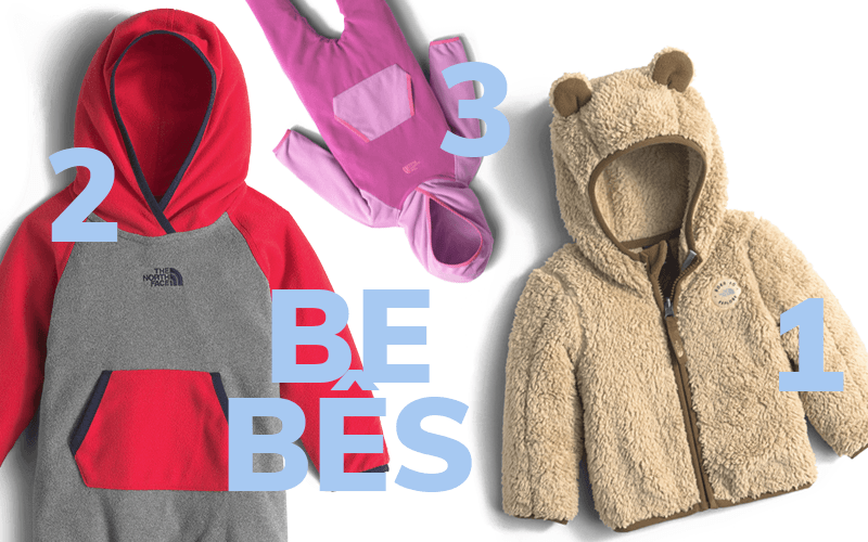 1. Fleece Plushee Bear / 2. Macacao One Peace Masculino / 3. Macacao One Peace Feminino