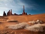 As cores do céu e as texturas do deserto. - Foto: Cristiano Xavier/OneLapse