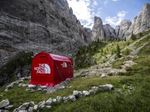 The North Face tem pop up store nos alpes em Dolomites