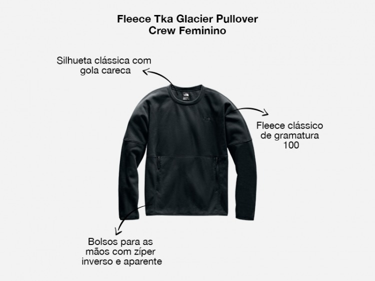 Fleece Tka Glacier Pullover Crew